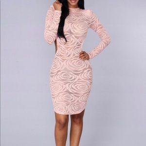 Pink fashion nova dress L